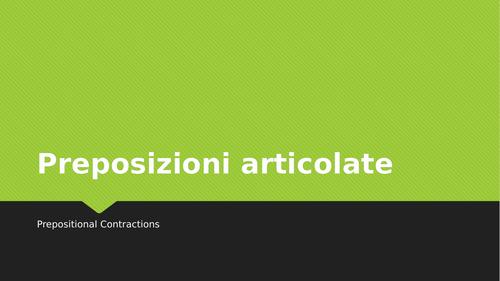 Preposizioni articolate (Articulated Prepositions in Italian) Distance Learning