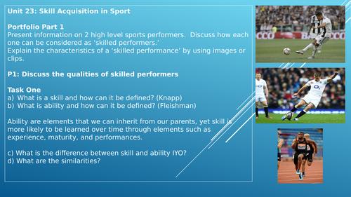 BTEC Sport Level 3 U23 Skill Acquisition