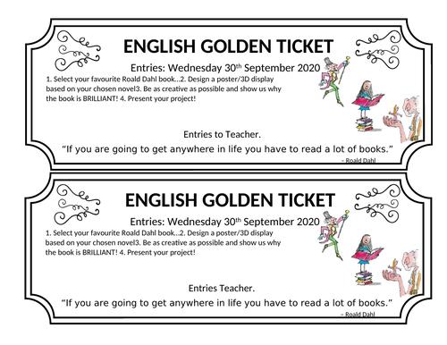 Roald Dahl Poster and ticket