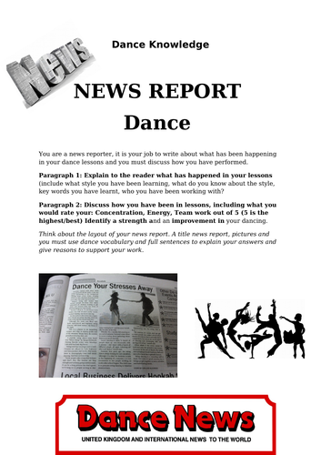 Dance News Report, non doers activity, dance theory