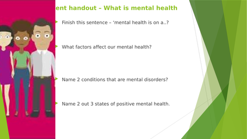 Unit 20 - Understanding Mental Health - Learning Aim A -  2016 Specification