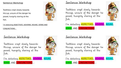 Sentence Workshop Grammar Cards