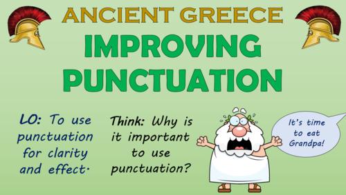 Improving Punctuation English Lesson (Ancient Greeks Theme)