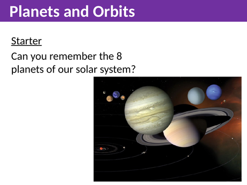 Planets and Orbits