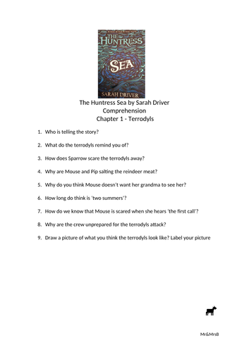 Comprehension The Huntress Sea by Sarah Driver
