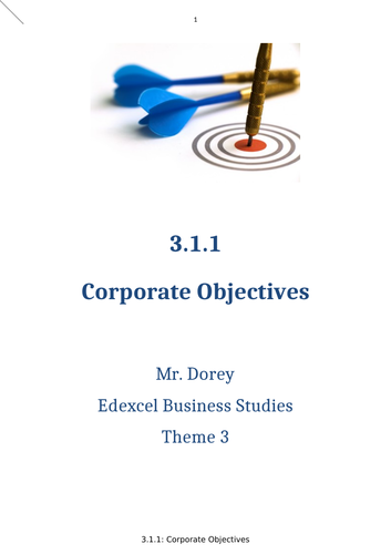 Edexcel A Level Business - Theme 3 (Near) Entire Unit Resources