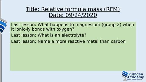Quantitative chemistry Foundation Trilogy unit