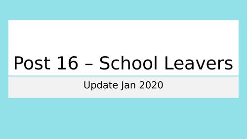 Post 16 - School Leavers