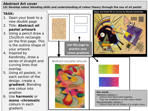 Cover lesson/task - abstract art oil pastel