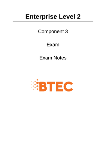Enterprise Component 3 Exam Notes