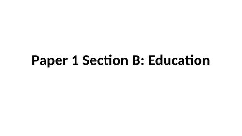 GCSE Sociology: Education