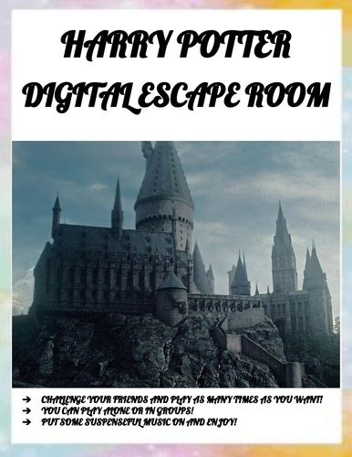 HARRY POTTER DIGITAL ESCAPE ROOM!