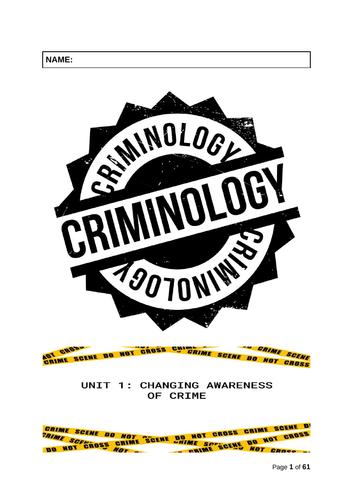 UNIT 1: Changing awareness of crime - CRIMINOLOGY WJEC