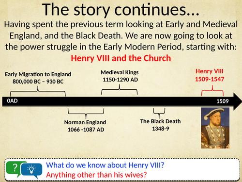 KS3: Henry VIII Scheme of Work