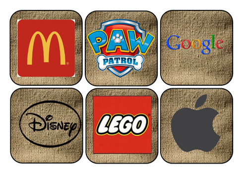 Logo hunt and initial sounds eyfs