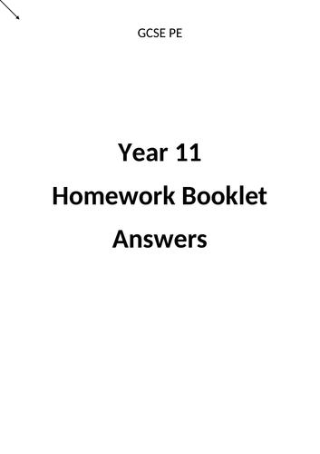 Year 11 GCSE PE Homework Booklet