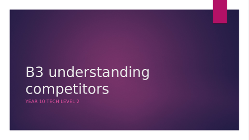 Competitors ppt
