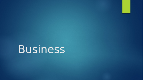 Business format slides ppt