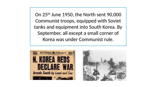 What caused the Americans to get involved in the Korean War?