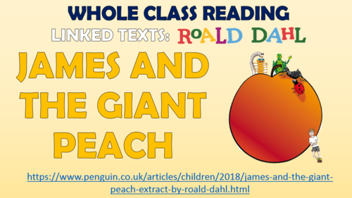 James and the Giant Peach - Whole Class Reading Session!