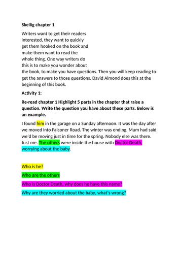 Skellig Chapter 1-5
