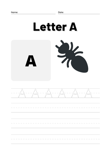 Trace Letter A