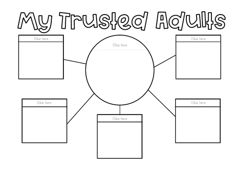 My Trusted Adults - Lift the Flap Printable