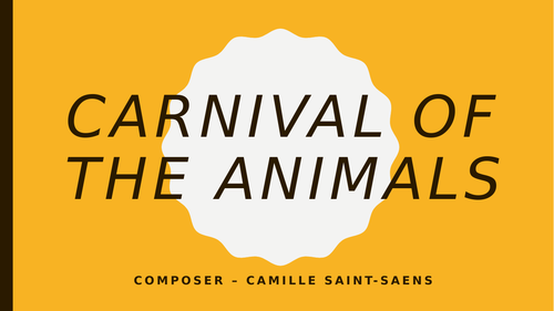 Carnival of the Animals - Programme Music topic ideal for remote learning