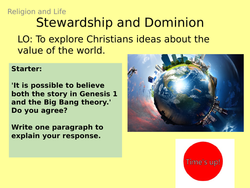 AQA GCSE RE RS - 2 Value of the world - Theme B: Religion and Life