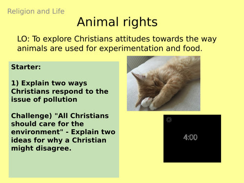 AQA GCSE RE RS - 4 Use of Animals - Theme B: Religion and Life