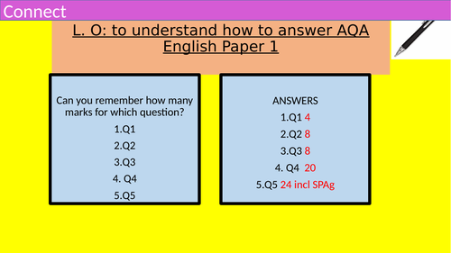 GCSE AQA LANGUAGE PAPER 1-STUDENT GUIDE