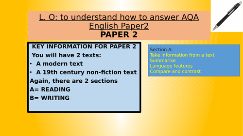 GCSE LANGUAGE PAPER 2 Student guide