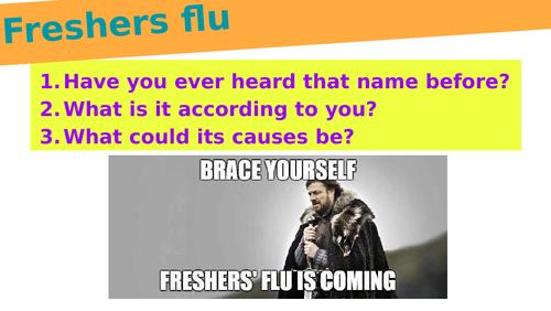 PSHE - Meningitis and freshers' flu