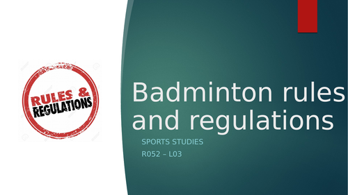 Badminton rules and regulation