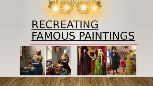 Art lesson - Re-creating famous portraits