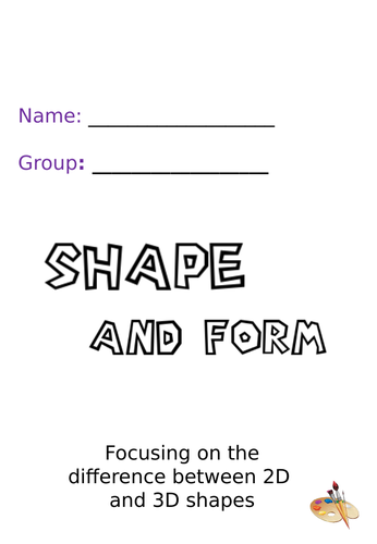Shape and Form Activity Booklet