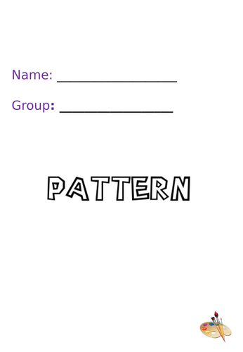 Pattern Activity Booklet for Art