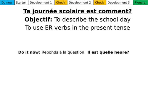 Dynamo 1, Module 2.3 Ta journée scolaire est comment?
