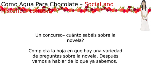 Como Agua Para Chocolate - Historical and Social Context