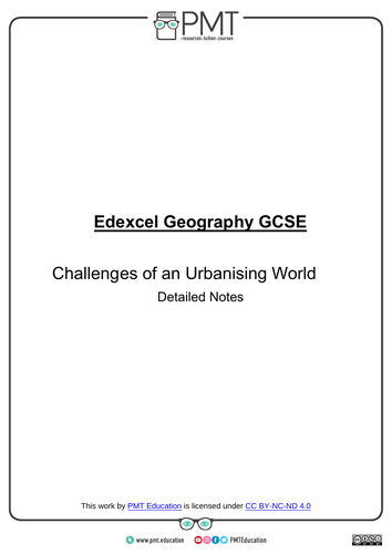 Edexcel GCSE Geography Detailed Notes