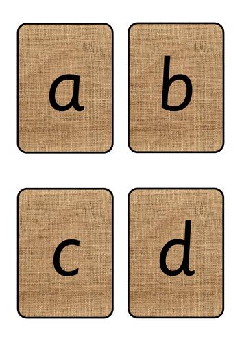 Hessian Alphabet Cards