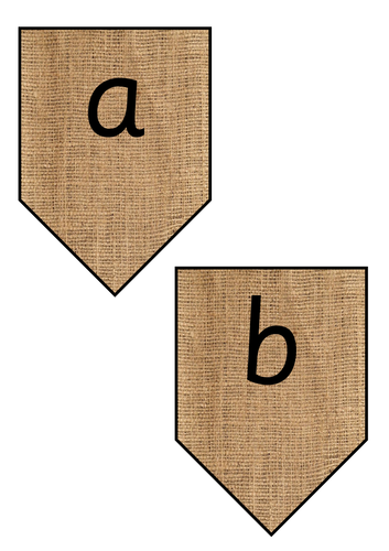 Hessian Square Bunting