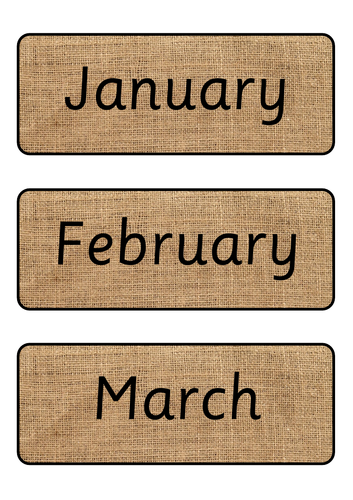 Hessian Months of the Year
