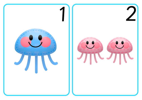 Jellyfish Number Cards