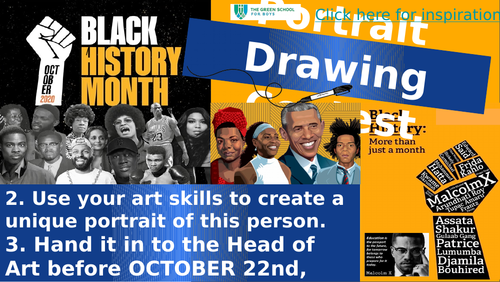 Black History Month Art Contest Portraits