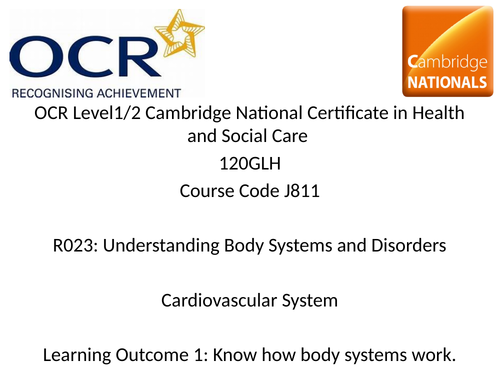 Health & Social OCR Cambridge Nationals COMPLETE R023 UNIT Lesson Resources