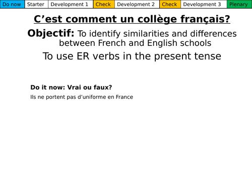 C'est comment un collège français? Dynamo 1 Module 2.4