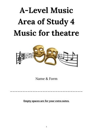 Musical Theatre Booklet AoS 4 AQA A level