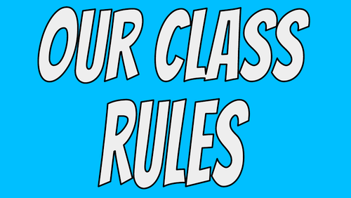 Classroom rules posters and display header/title