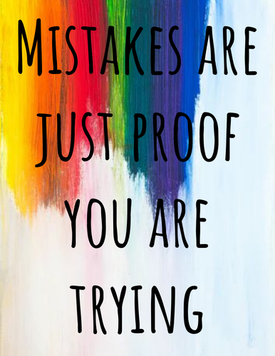 Inspirational quotes posters(with rainbow backgrounds)